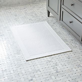Westport White Bath Rug