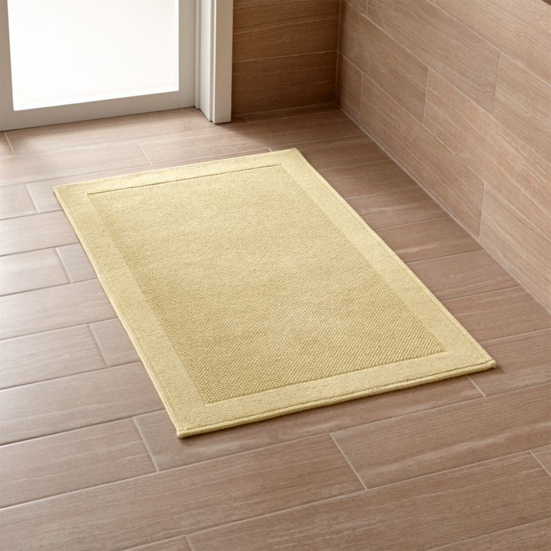 Crate And Barrel Bath Rugs: Westport Yellow Bath Rug