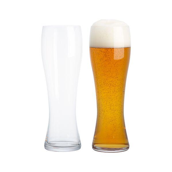 Set of 2 Spiegelau Wheat Beer Glasses