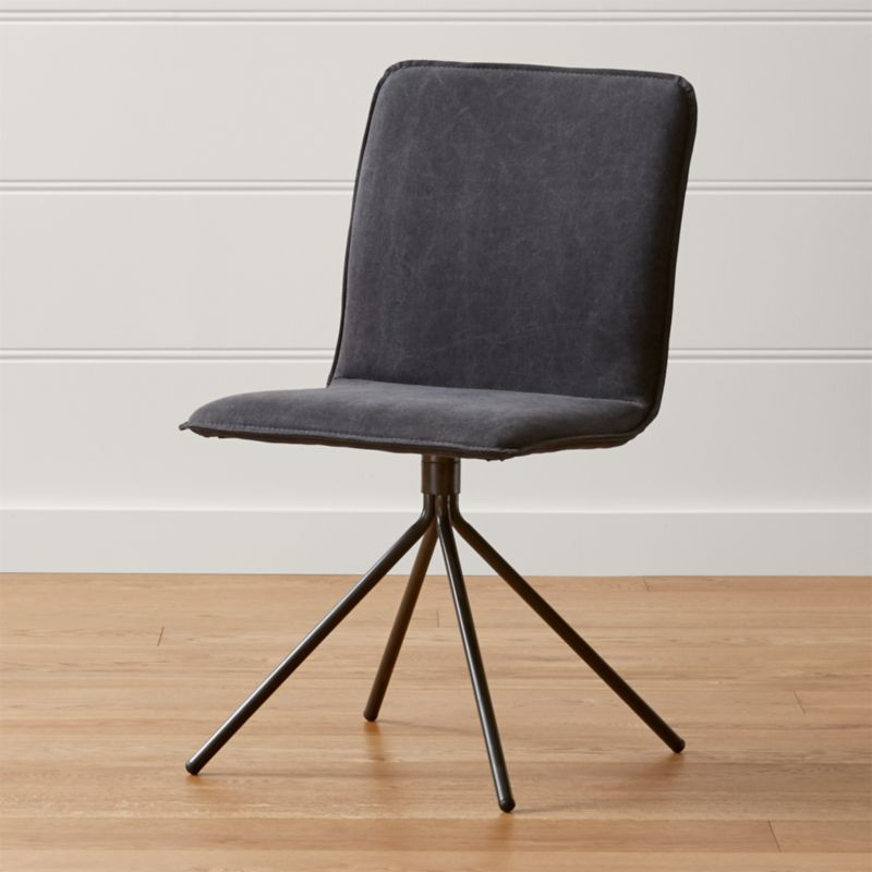Crate And Barrel Dining Room Chairs: Whirl Swivel Grey Upholstered Dining Chair