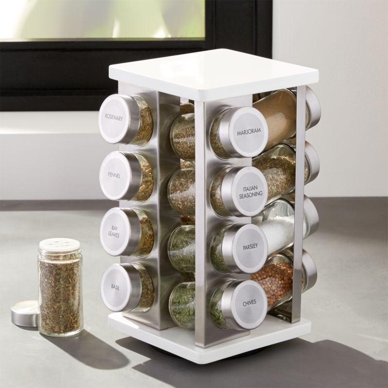 16 Bottle White Spice Rack Crate And Barrel