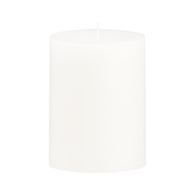 Stock up on the classic white pillar candle, in a variety of sizes.<br /><br /><NEWTAG/><ul><li>Paraffin wax</li><li>Cotton wick</li><li>Unscented</li><li>Burn time: 46 hours</li><li>Made in India</li></ul>
