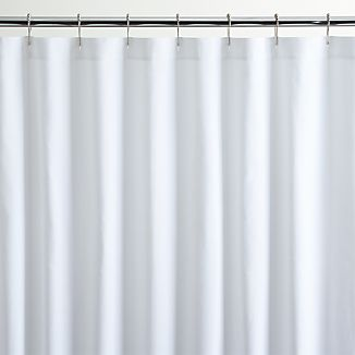 White Canvas Shower Curtain