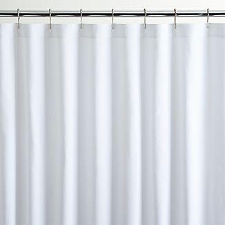 White Canvas Shower Curtain