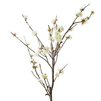 White Cherry Blossom Artificial Flower Stem