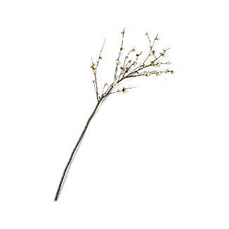 White Cherry Blossom Artificial Flower Stem