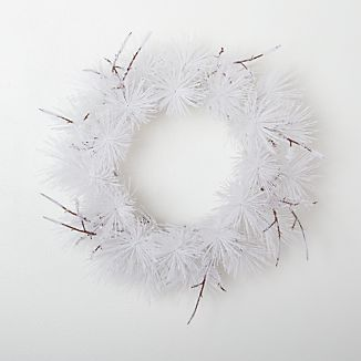 White Flocked Wreath