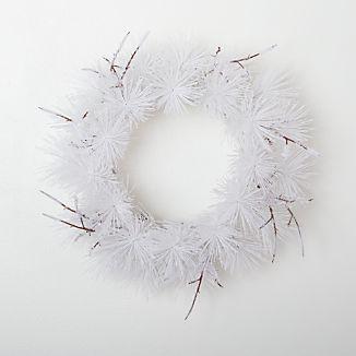 White Flocked Wreath