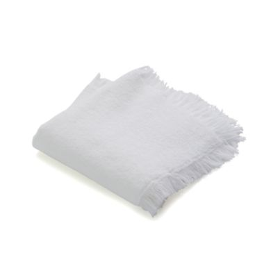 White Fringe Wash Cloth