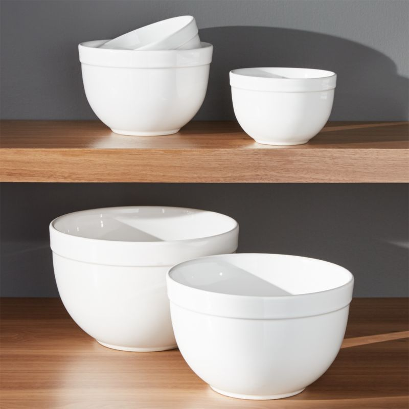 5 Piece 5 5 Quot 9 75 Quot Nesting Mixing Bowl Set Crate And Barrel