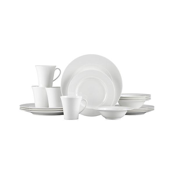 White Pearl 16-Piece Dinnerware Set