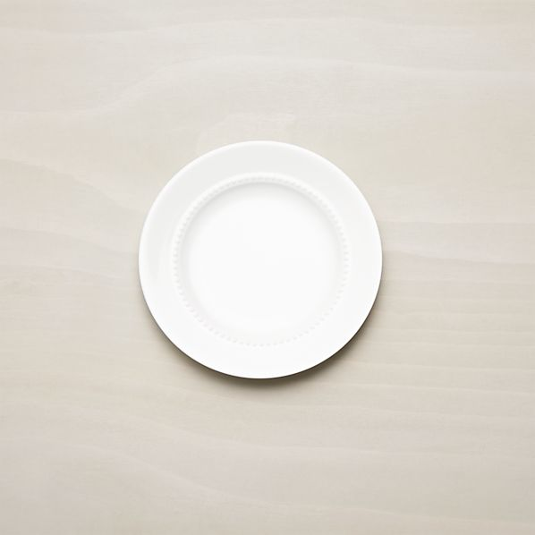 White Pearl Bread and Butter Plate