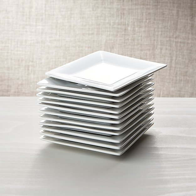 "Set of 12 Boxed 6"" Appetizer Plates 