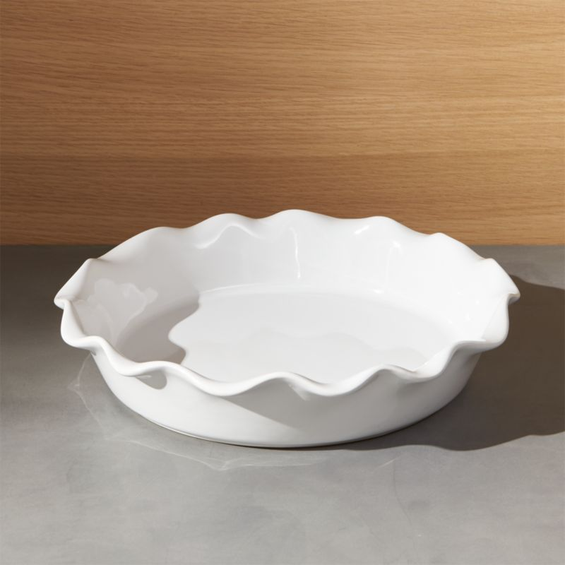 Ruffled Pie Dish Crate And Barrel
