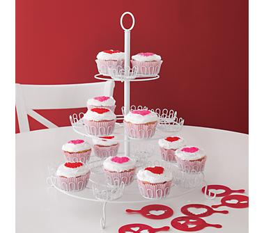Crate and Barrel - Valentine's Day Cupcake Stencils Set of Six shopping in Crate and Barrel Kitchen and Food