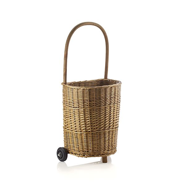 Wicker Utility Trolley