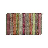 "Wide Striped Multicolor Cotton 30""x50"" Rag Rug"