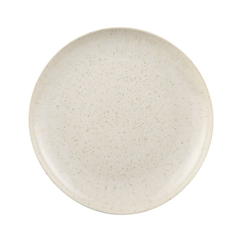 Warm and earthy, this artisanal Portuguese stoneware features elegant shapes, organic freeform rims and a reactive glaze that speckles brown on sand.<br /><br /><strong>Please note:</strong> This platter is discontinued. When our current inventory is sold out, it is unlikely we will be able to obtain more.<br /><br /><NEWTAG/><ul><li>Stoneware</li><li>Dishwasher-, microwave- and oven-safe to 300 degrees</li><li>Made in Portugal</li></ul>
