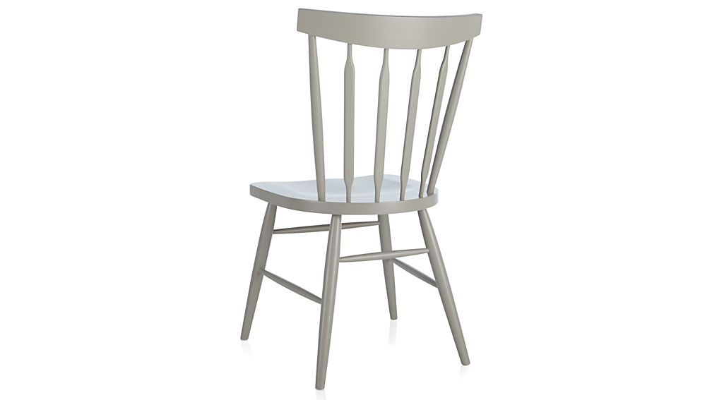 Willa Dove Wood Dining Chair Crate And Barrel
