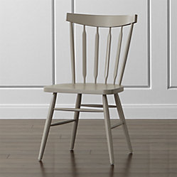 Willa White Wood Dining Chair Crate And Barrel
