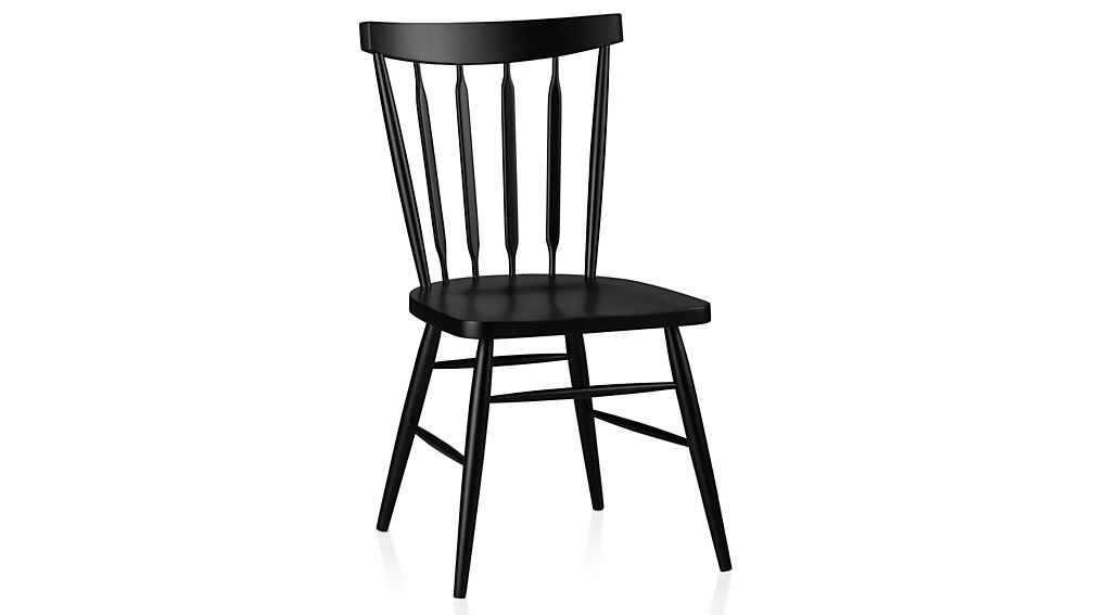Willa Black Wood Dining Chair Crate And Barrel