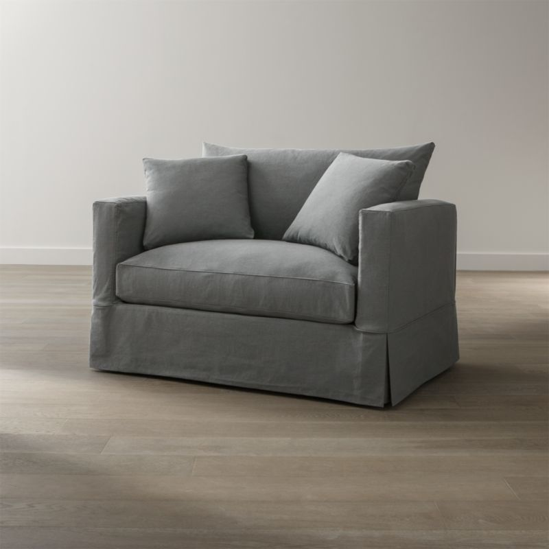 Willow Grey Chair And A Half Crate And Barrel