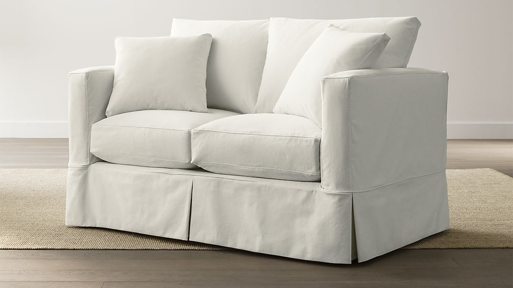 Willow Loveseat Deso Snow Crate And Barrel
