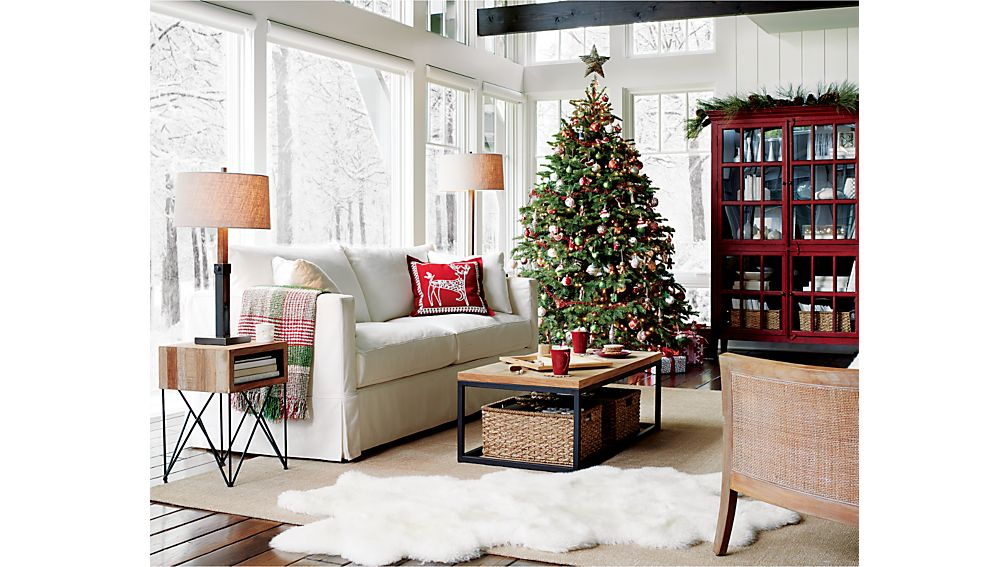 Willow White Slipcovered Sofa Deso Snow Crate And Barrel