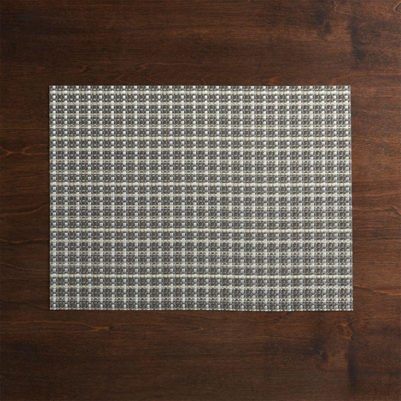 Chilewich ® Windowpane Grey Vinyl Placemat