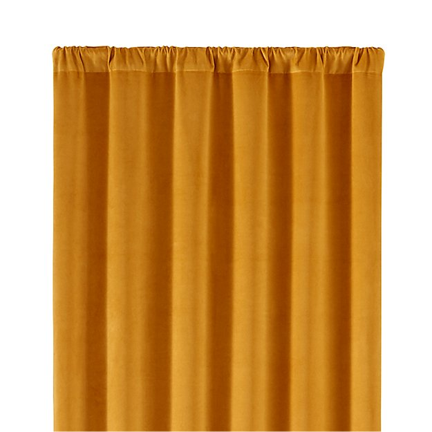 windsor gold 48 x84 curtain panel crate and barrel. Black Bedroom Furniture Sets. Home Design Ideas