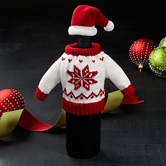Wine Bottle Sweater and Hat