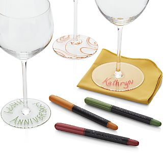 Set of 3 Wine Glass Writers