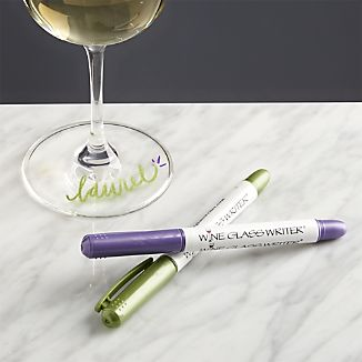 Set of 2 Wine Glass Writers