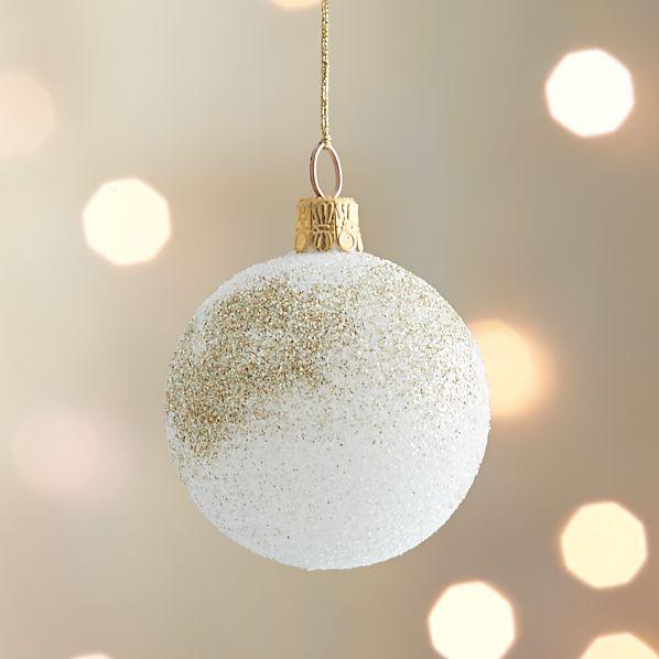 Winter White Snowdrift Ball Ornament