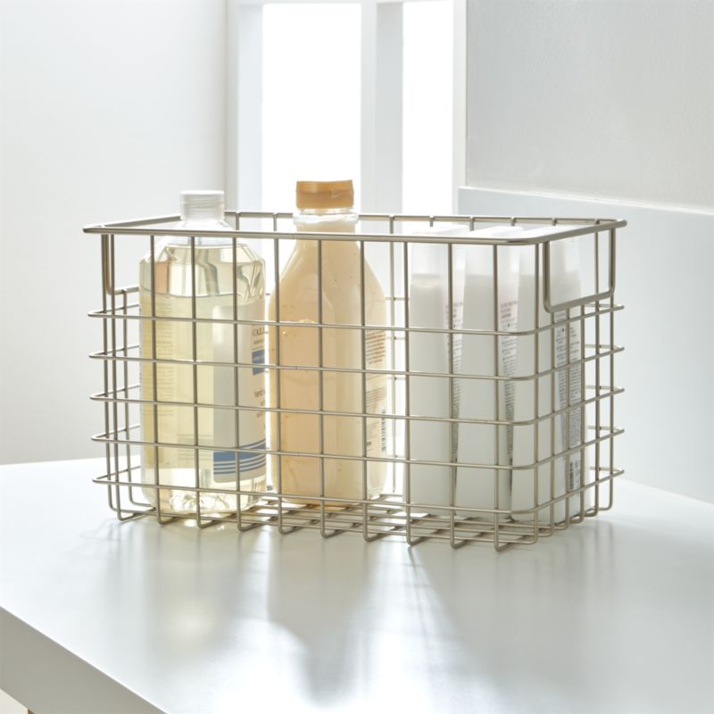 Large Wire Basket Crate And Barrel