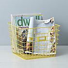 Yellow Wire Bin.