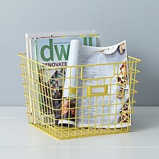 Yellow Wire Bin