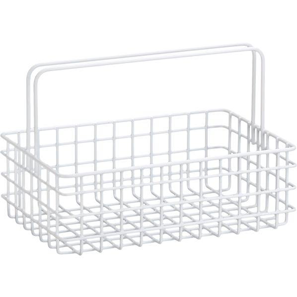 White Wire Caddy