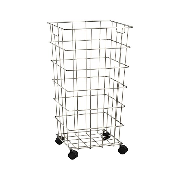 Wire Hamper with Wheels