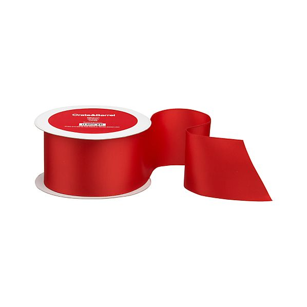 Satin Red Wired Ribbon