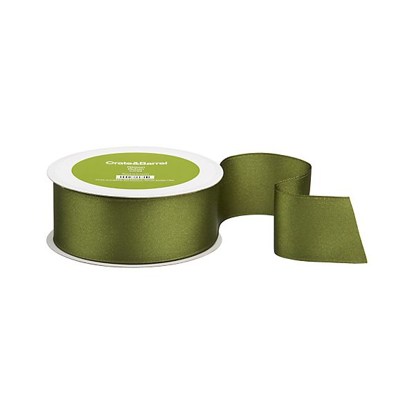 Taffeta Wired Green Ribbon