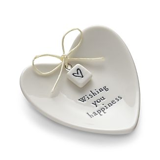 Wishing You Happiness Ring Dish