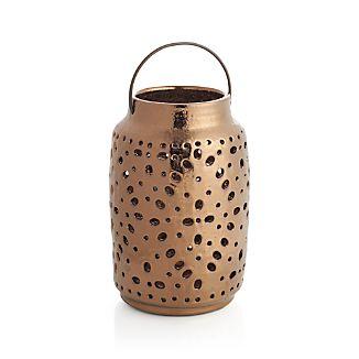 Wisteria Large Bronze Ceramic Lantern