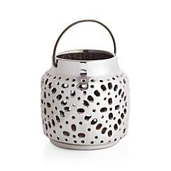 Wisteria Small Silver Ceramic Lantern