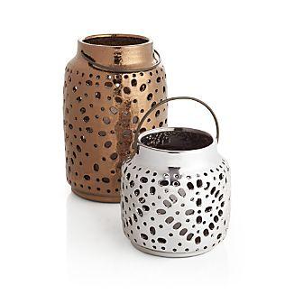 Wisteria Metallic Ceramic Lanterns