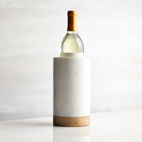 Wood and Marble Wine Cooler