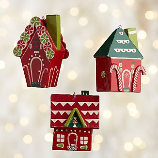 Gingerbread House Wood Ornaments