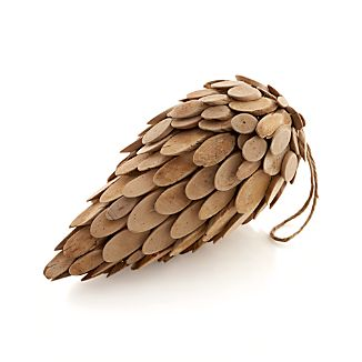 Wood Large Pinecone
