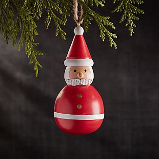 Bubble Santa Wood Ornament