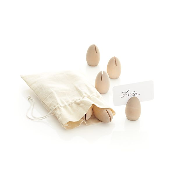 Set of 12 Wooden Egg Placecard Holders